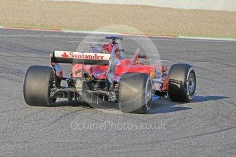 World © Octane Photographic Ltd. Formula 1 - Winter Test 1. Sebastian Vettel - Scuderia Ferrari SF70H. Circuit de Barcelona-Catalunya. Monday 27th February 2017. Digital Ref : 1780CB1D3464