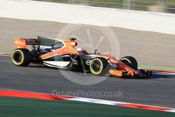 World © Octane Photographic Ltd. Formula 1 - Winter Test 1. Fernando Alonso - McLaren Honda MCL32. Circuit de Barcelona-Catalunya. Monday 27th February 2017. Digital Ref : 1780CB1D3548
