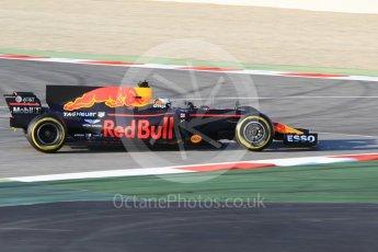 World © Octane Photographic Ltd. Formula 1 - Winter Test 1. Daniel Ricciardo - Red Bull Racing RB13. Circuit de Barcelona-Catalunya. Monday 27th February 2017. Digital Ref : 1780CB1D3557