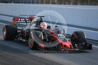 World © Octane Photographic Ltd. Formula 1 winter test 1, Haas F1 Team VF-17 – Kevin Magnessen, Circuit de Barcelona-Catalunya. Monday 27th February 2017. Digital Ref :1780CB1D6044