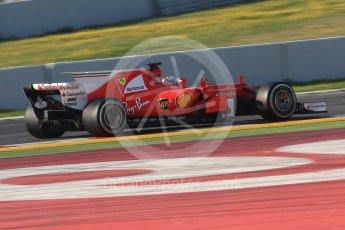 World © Octane Photographic Ltd. Formula 1 winter test 1, Scuderia Ferrari SF70H – Sebastian Vettel. Circuit de Barcelona-Catalunya. Monday 27th February 2017. Digital Ref :1780CB1D6335