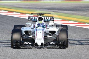 World © Octane Photographic Ltd. Formula 1 winter test 1, Williams martini Racing FW40 – Felipe Massa. Circuit de Barcelona-Catalunya. Monday 27th February 2017. Digital Ref :1780CB1D6563