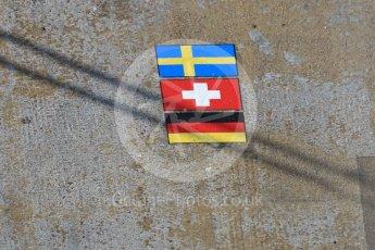 World © Octane Photographic Ltd. Formula 1 - Winter Test 1 - Sauber F1 Team C36 pit box. Circuit de Barcelona-Catalunya. Monday 27th February 2017. Digital Ref :1780CB1D6638