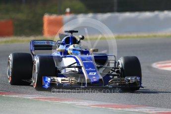 World © Octane Photographic Ltd. Formula 1 - Winter Test 1. Marcus Ericsson - Sauber F1 Team C36. Circuit de Barcelona-Catalunya. Monday 27th February 2017. Digital Ref :1780CB1D6715