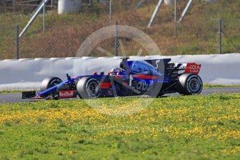 World © Octane Photographic Ltd. Formula 1 - Winter Test 1. Carlos Sainz - Scuderia Toro Rosso STR12. Circuit de Barcelona-Catalunya. Monday 27th February 2017. Digital Ref :1780CB1D6719