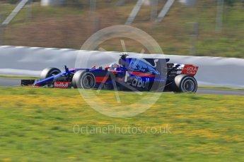 World © Octane Photographic Ltd. Formula 1 - Winter Test 1. Carlos Sainz - Scuderia Toro Rosso STR12. Circuit de Barcelona-Catalunya. Monday 27th February 2017. Digital Ref :1780CB1D6784