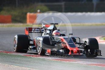 World © Octane Photographic Ltd. Formula 1 - Winter Test 1. Kevin Magnussen - Haas F1 Team VF-17. Circuit de Barcelona-Catalunya. Monday 27th February 2017. Digital Ref :1780CB1D6819