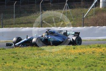 World © Octane Photographic Ltd. Formula 1 - Winter Test 1. Lewis Hamilton - Mercedes AMG Petronas F1 W08 EQ Energy+. Circuit de Barcelona-Catalunya. Monday 27th February 2017. Digital Ref :1780CB1D6823
