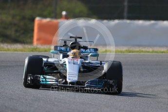World © Octane Photographic Ltd. Formula 1 - Winter Test 1. Lewis Hamilton - Mercedes AMG Petronas F1 W08 EQ Energy+. Circuit de Barcelona-Catalunya. Monday 27th February 2017. Digital Ref : 1780CB1D6832