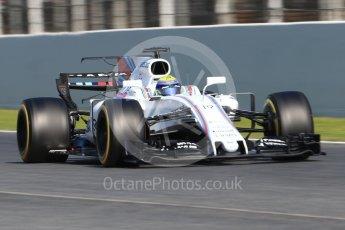 World © Octane Photographic Ltd. Formula 1 - Winter Test 1. Felipe Massa, - Williams Martini Racing FW40. Circuit de Barcelona-Catalunya. Monday 27th February 2017. Digital Ref : 1780CB1D6961