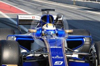 World © Octane Photographic Ltd. Formula 1 - Winter Test 1. Marcus Ericsson - Sauber F1 Team C36. Circuit de Barcelona-Catalunya. Monday 27th February 2017. Digital Ref : 1780LB1D8442