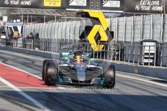 World © Octane Photographic Ltd. Formula 1 - Winter Test 1. Lewis Hamilton - Mercedes AMG Petronas F1 W08 EQ Energy+. Circuit de Barcelona-Catalunya. Monday 27th February 2017. Digital Ref : 1780LB1D8533