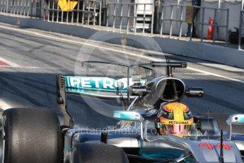 World © Octane Photographic Ltd. Formula 1 - Winter Test 1. Lewis Hamilton - Mercedes AMG Petronas F1 W08 EQ Energy+. Circuit de Barcelona-Catalunya. Monday 27th February 2017. Digital Ref : 1780LB1D8566