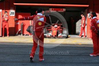 World © Octane Photographic Ltd. Formula 1 - Winter Test 1. Sebastian Vettel - Scuderia Ferrari SF70H. Circuit de Barcelona-Catalunya. Monday 27th February 2017. Digital Ref : 1780LB5D7685