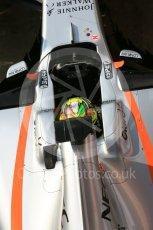 World © Octane Photographic Ltd. Formula 1 - Winter Test 1. Sergio Perez - Sahara Force India VJM10. Circuit de Barcelona-Catalunya. Monday 27th February 2017. Digital Ref : 1780LB5D7862