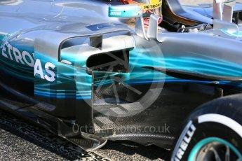 World © Octane Photographic Ltd. Formula 1 - Winter Test 1. Lewis Hamilton - Mercedes AMG Petronas F1 W08 EQ Energy+. Circuit de Barcelona-Catalunya. Monday 27th February 2017. Digital Ref : 1780LB5D7925