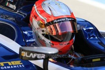 World © Octane Photographic Ltd. FIA Formula 2 (F2) - Practice. Luca Ghiotto – Russian Time. Circuit de Barcelona - Catalunya, Spain. Friday 12th May 2017. Digital Ref: 1811CB7D4572