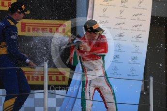 World © Octane Photographic Ltd. FIA Formula 2 (F2) - Race 1. Charles Leclerc – Prema Racing (1st) and Oliver Rowland – DAMS (3rd). Circuit de Barcelona - Catalunya, Spain. Friday 12th May 2017. Digital Ref:1819LB1D2470