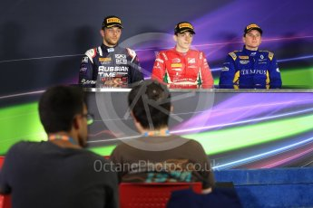 World © Octane Photographic Ltd. FIA Formula 2 (F2) - Race 1. Charles Leclerc – Prema Racing (1st), Luca Ghiotto – Russian Time (2nd) and Oliver Rowland – DAMS (3rd). Circuit de Barcelona - Catalunya, Spain. Friday 12th May 2017. Digital Ref:1819LB1D2527