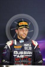 World © Octane Photographic Ltd. FIA Formula 2 (F2) - Race 1. Luca Ghiotto – Russian Time. Circuit de Barcelona - Catalunya, Spain. Friday 12th May 2017. Digital Ref:1819LB1D2529
