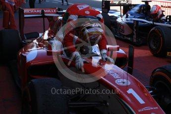 World © Octane Photographic Ltd. FIA Formula 2 (F2) - Race 1. Charles Leclerc – Prema Racing. Circuit de Barcelona - Catalunya, Spain. Friday 12th May 2017. Digital Ref:1819LB2D8549