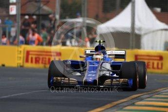 World © Octane Photographic Ltd. Formula 1 - Australian Grand Prix - Practice 1. Pascal Wehrlein – Sauber F1 Team C36. Albert Park Circuit. Friday 24th March 2017. Digital Ref: 1793LB1D0975