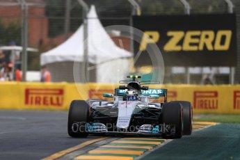 World © Octane Photographic Ltd. Formula 1 - Australian Grand Prix - Practice 1. Valtteri Bottas - Mercedes AMG Petronas F1 W08 EQ Energy+. Albert Park Circuit. Friday 24th March 2017. Digital Ref: 1793LB1D1281
