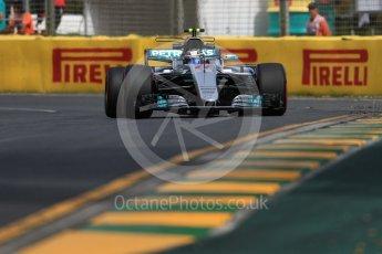 World © Octane Photographic Ltd. Formula 1 - Australian Grand Prix - Practice 1. Valtteri Bottas - Mercedes AMG Petronas F1 W08 EQ Energy+. Albert Park Circuit. Friday 24th March 2017. Digital Ref: 1793LB1D1518