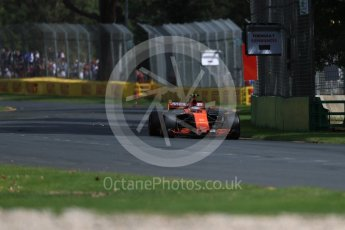 World © Octane Photographic Ltd. Formula 1 - Australian Grand Prix - Practice 1. Stoffel Vandoorne - McLaren Honda MCL32. Albert Park Circuit. Friday 24th March 2017. Digital Ref: 1793LB1D1689