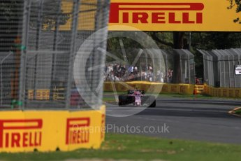 World © Octane Photographic Ltd. Formula 1 - Australian Grand Prix - Practice 1. Esteban Ocon - Sahara Force India VJM10. Albert Park Circuit. Friday 24th March 2017. Digital Ref: 1793LB1D1720