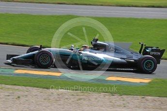 World © Octane Photographic Ltd. Formula 1 - Australian Grand Prix - Practice 1. Lewis Hamilton - Mercedes AMG Petronas F1 W08 EQ Energy+. Albert Park Circuit. Friday 24th March 2017. Digital Ref: 1793LB1D1973