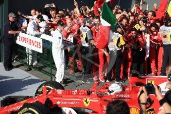World © Octane Photographic Ltd. Formula 1 - Australian Grand Prix - Podium. Sebastian Vettel - Scuderia Ferrari SF70H. Albert Park Circuit. Sunday 26th March 2017. Digital Ref: 1803LB1D6948