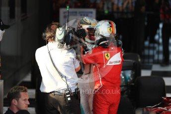World © Octane Photographic Ltd. Formula 1 - Australian Grand Prix - Podium. Sebastian Vettel - Scuderia Ferrari SF70H. Albert Park Circuit. Sunday 26th March 2017. Digital Ref: 1803LB1D7057