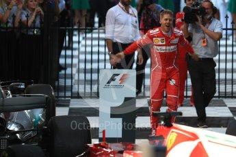 World © Octane Photographic Ltd. Formula 1 - Australian Grand Prix - Podium. Sebastian Vettel - Scuderia Ferrari SF70H. Albert Park Circuit. Sunday 26th March 2017. Digital Ref: 1803LB1D7136