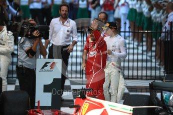 World © Octane Photographic Ltd. Formula 1 - Australian Grand Prix - Podium. Sebastian Vettel - Scuderia Ferrari SF70H. Albert Park Circuit. Sunday 26th March 2017. Digital Ref: 1803LB1D7264
