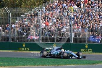 World © Octane Photographic Ltd. Formula 1 - Australian Grand Prix - Race. Lewis Hamilton - Mercedes AMG Petronas F1 W08 EQ Energy+. Albert Park Circuit. Sunday 26th March 2017. Digital Ref: 1802LB1D5966