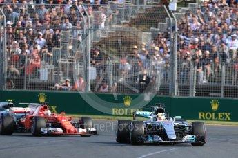 World © Octane Photographic Ltd. Formula 1 - Australian Grand Prix - Race. Lewis Hamilton - Mercedes AMG Petronas F1 W08 EQ Energy+. Albert Park Circuit. Sunday 26th March 2017. Digital Ref: 1802LB1D5978