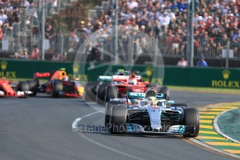World © Octane Photographic Ltd. Formula 1 - Australian Grand Prix - Race. Lewis Hamilton - Mercedes AMG Petronas F1 W08 EQ Energy+. Albert Park Circuit. Sunday 26th March 2017. Digital Ref: 1802LB1D5986