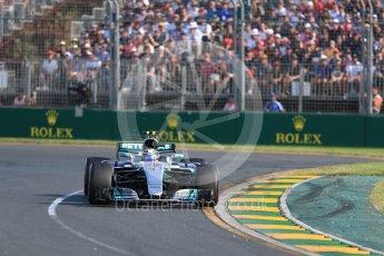 World © Octane Photographic Ltd. Formula 1 - Australian Grand Prix - Race. Valtteri Bottas - Mercedes AMG Petronas F1 W08 EQ Energy+. Albert Park Circuit. Sunday 26th March 2017. Digital Ref: 1802LB1D6049