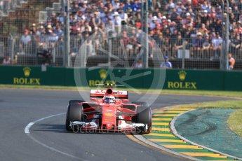 World © Octane Photographic Ltd. Formula 1 - Australian Grand Prix - Race. Kimi Raikkonen - Scuderia Ferrari SF70H. Albert Park Circuit. Sunday 26th March 2017. Digital Ref: 1802LB1D6058