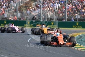 World © Octane Photographic Ltd. Formula 1 - Australian Grand Prix - Race. Fernando Alonso - McLaren Honda MCL32. Albert Park Circuit. Sunday 26th March 2017. Digital Ref: 1802LB1D6112