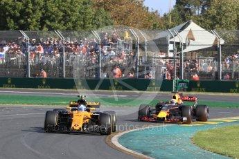 World © Octane Photographic Ltd. Formula 1 - Australian Grand Prix - Race. Jolyon Palmer - Renault Sport F1 Team R.S.17. Albert Park Circuit. Sunday 26th March 2017. Digital Ref: 1802LB1D6534