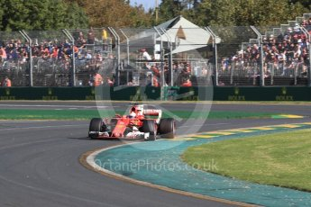 World © Octane Photographic Ltd. Formula 1 - Australian Grand Prix - Race. Sebastian Vettel - Scuderia Ferrari SF70H. Albert Park Circuit. Sunday 26th March 2017. Digital Ref: 1802LB1D6571