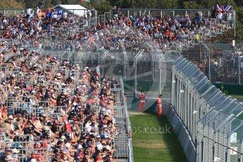 World © Octane Photographic Ltd. Formula 1 - Australian Grand Prix - Race. Fans. Albert Park Circuit. Sunday 26th March 2017. Digital Ref: 1802LB1D6752