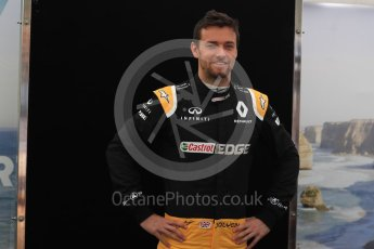 World © Octane Photographic Ltd. Formula 1 - Australian Grand Prix - FIA Driver Photo Call. Jolyon Palmer - Renault Sport F1 Team R.S.17. Albert Park Circuit. Thursday 23rd March 2017. Digital Ref: 1790LB1D8232