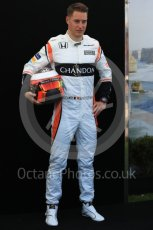 World © Octane Photographic Ltd. Formula 1 - Australian Grand Prix - FIA Driver Photo Call. Stoffel Vandoorne - McLaren Honda MCL32. Albert Park Circuit. Thursday 23rd March 2017. Digital Ref: 1790LB1D8272