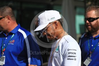 World © Octane Photographic Ltd. Formula 1 - Australian Grand Prix - Thursday - Melbourne Walk. Lewis Hamilton - Mercedes AMG Petronas F1. Albert Park Circuit. Thursday 23rd March 2017. Digital Ref: 1789LB1D7834