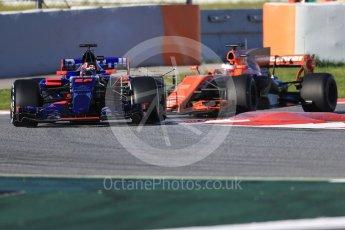 World © Octane Photographic Ltd. Formula 1 - Winter Test 2. Daniil Kvyat - Scuderia Toro Rosso STR12. Circuit de Barcelona-Catalunya. Tuesday 7th March 2017. Digital Ref :1784CB1D0456