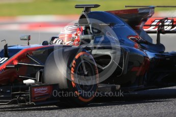World © Octane Photographic Ltd. Formula 1 - Winter Test 2. Kevin Magnussen - Haas F1 Team VF-17. Circuit de Barcelona-Catalunya. Tuesday 7th March 2017. Digital Ref :1784CB1D0487