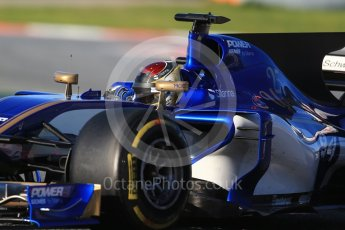 World © Octane Photographic Ltd. Formula 1 - Winter Test 2. Pascal Wehrlein – Sauber F1 Team C36. Circuit de Barcelona-Catalunya. Tuesday 7th March 2017. Digital Ref :1784CB1D0509